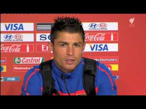 English interview Cristiano Ronaldo after Ivory Coast game at 2010 World Cup