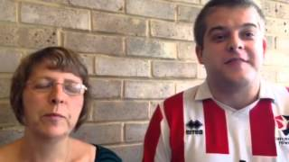 The Howells family with their thoughts ahead of kick-off against Wrexham