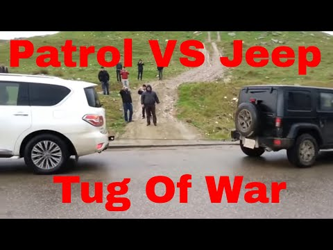 Nissan Patrol VS Jeep Wrangler - Tug Of War