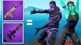 we can only use guns that match our fortnite skins color! - (very hard)