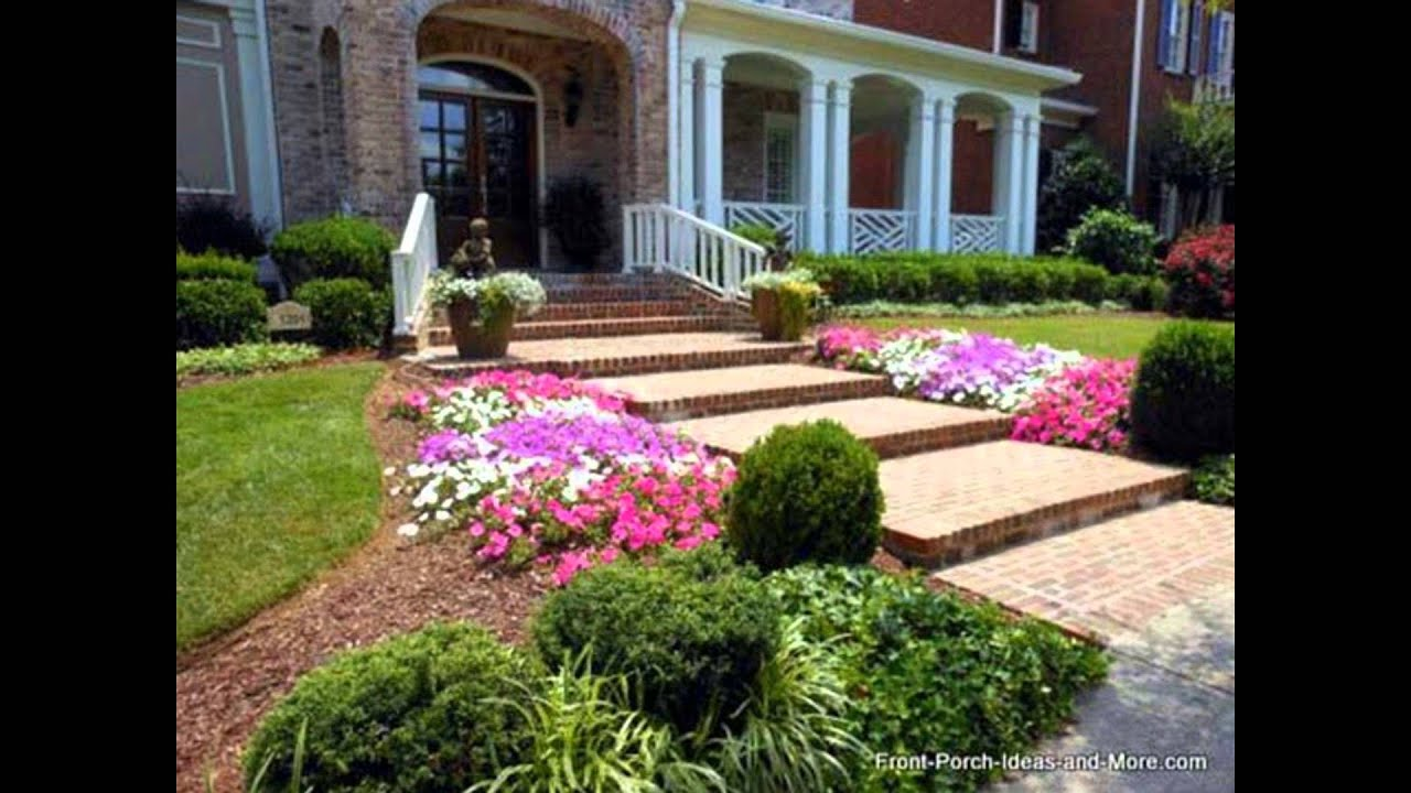 Part 4   Front Porch Walkway Ideas   YouTube