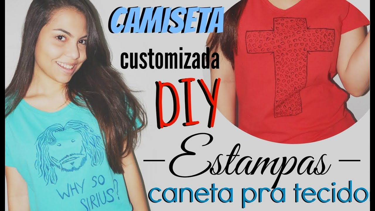 DIY  Camiseta estampada   T-shirt customizada 66ad53c7586