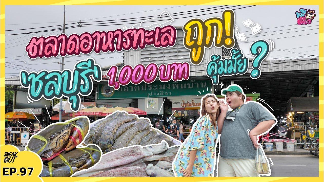 ควัก 1,000 บาท บุกตลาด อาหารทะเล 'ชลบุรี' คุ้มไม่คุ้ม มาดูกัน | หมีเที่ยว EP. 97