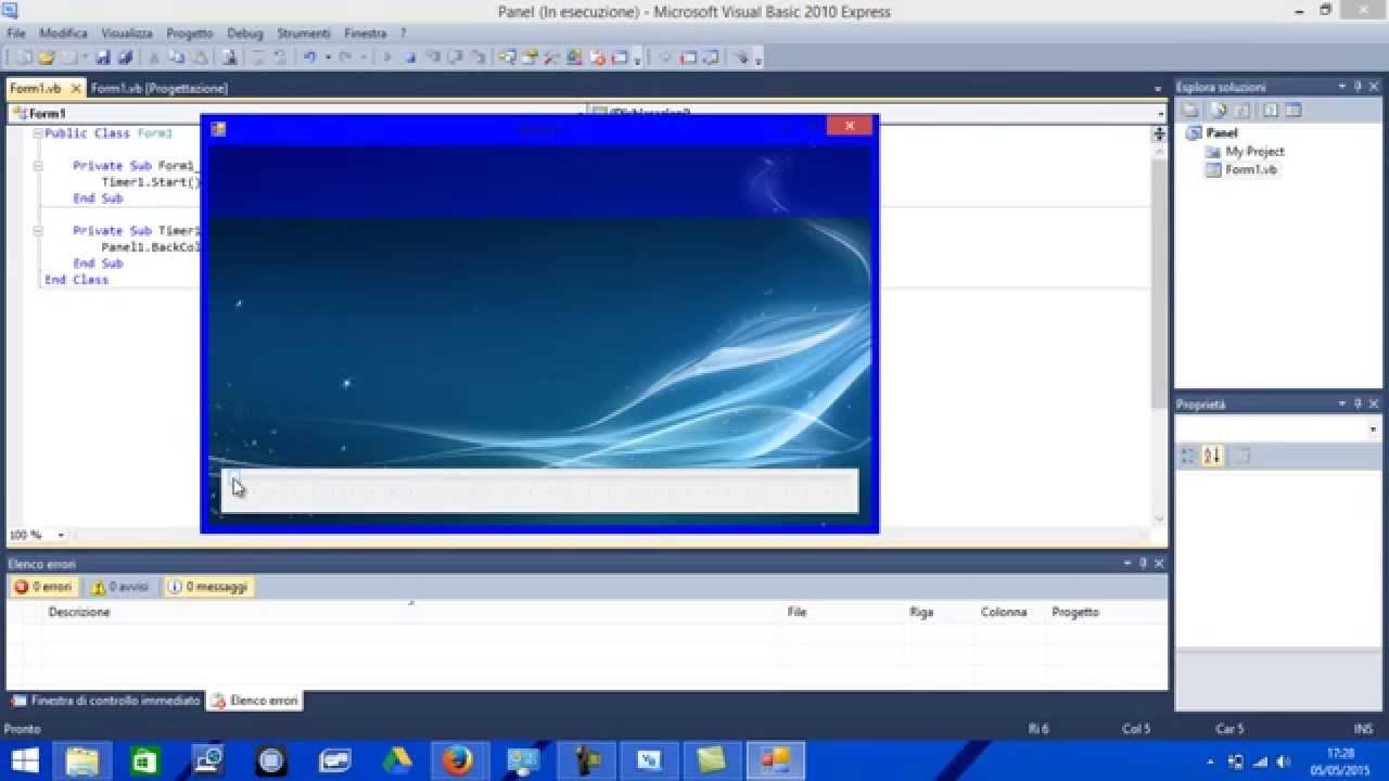 Tutorial Visual Basic Come Rendere Un Panel Trasparente