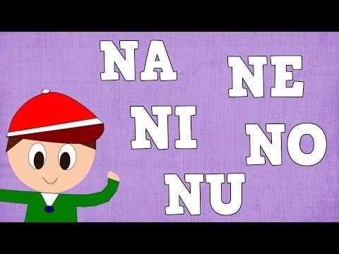 Sílabas Na Ne Ni No Nu Syllable With N Aprender A Leer Y