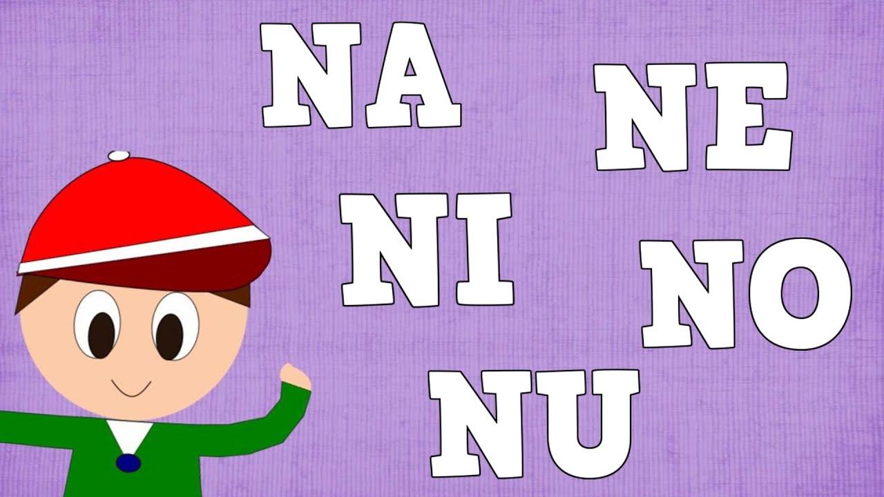 Sílabas Na Ne Ni No Nu Syllable With N Aprender A Leer Y Escribir Vídeos Para Niños