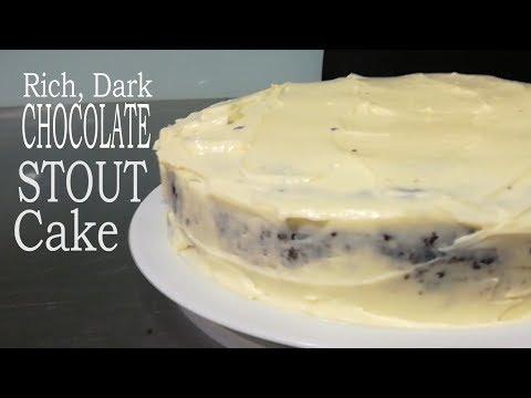Rich Dark Chocolate Stout Cake