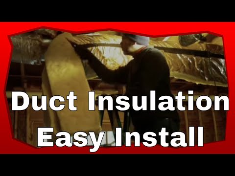 Installing Duct Insulation
