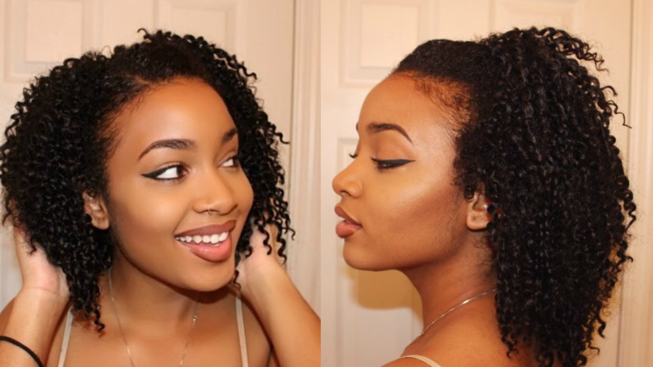 How To Do Natural Looking Crochet Braids With Leave Out Protective Style
