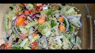 Couscous Chunkey Healthy Salad | Nice &  Easy Couscous Salad | Fresh Vegetables Salad