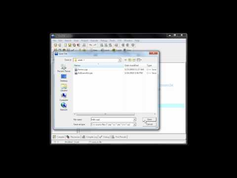 Create your first C++ Program in Dev-C++ (Video 1)