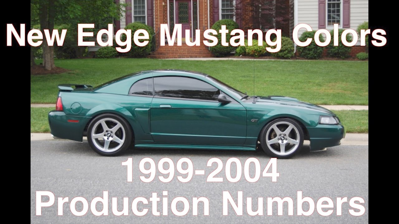 1999-2004 Mustang Colors & Production