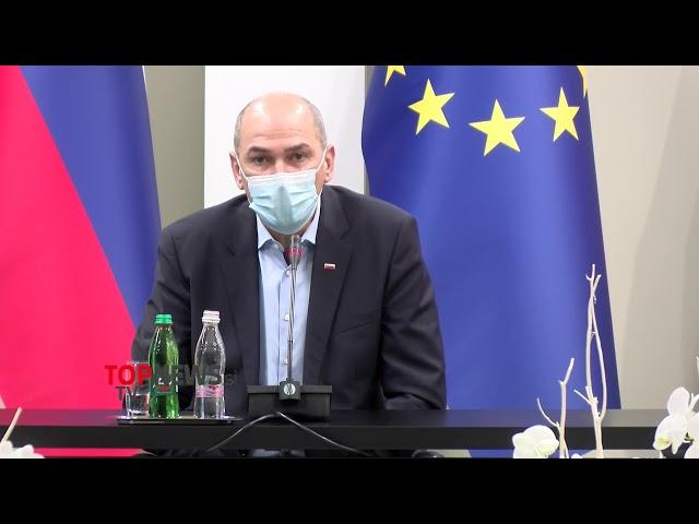 (V ŽIVO) Novinarska konferenca Janše, Tonina in Počivalška