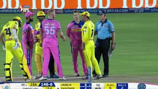 MS Dhoni Gets Angry And Fights With Umpire | Full Story | CSK vs RR IPL 2019