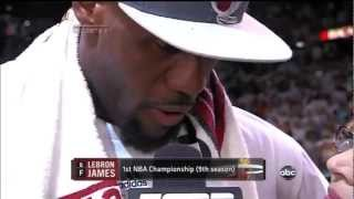 LeBron James MVP Post Game 5 Interview Miami Heat Win 2012 NBA Finals Title GAME 5 vs. Thunder
