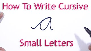 How To Write Cursive LowerCase Letters - Learn To Write Cursive letters