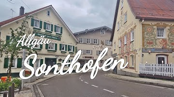 Impressionen aus der Stadt Sonthofen / eine malerische Stadt im Allgäu