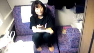寝台特急カシオペア。 札幌行きの車内です。