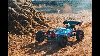 ARRMA 1/8 TYPHON 6S BLX Brushless 4WD RTR Red/Black Video