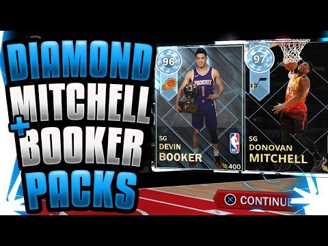 *NEW* DIAMOND DONOVAN MITCHELL! DIAMOND DEVIN BOOKER! NBA 2K18 MYTEAM PACK OPENING!