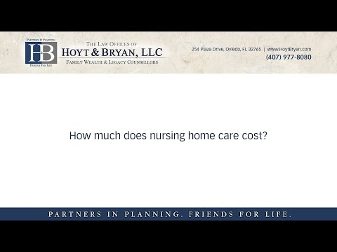 How much does nursing home care cost?