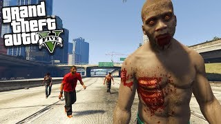 FRANKLIN becomes a ZOMBIE (GTA 5 Mods)