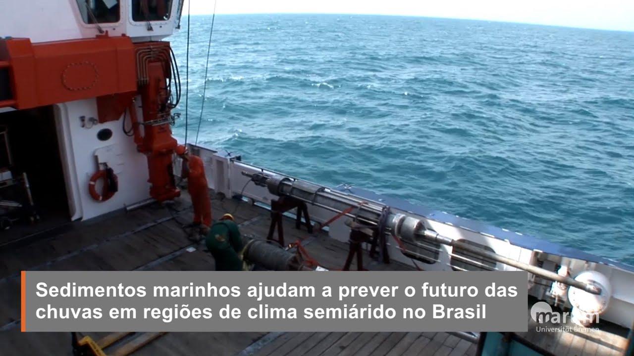 Sedimentos marinhos ajudam a prever o futuro das chuvas em regiões de clima semiárido no Brasil
