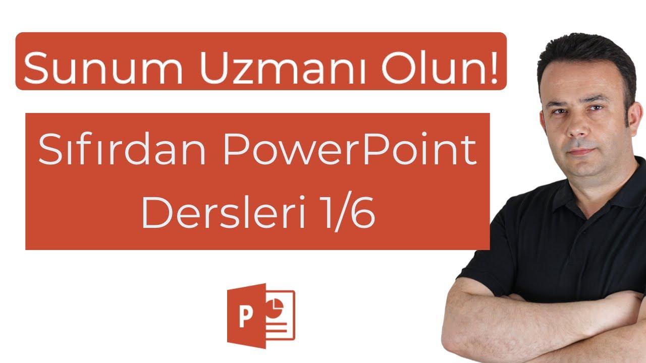 Sıfırdan PowerPoint Dersleri - 1/6 PowerPoint, Sunum hazırlamaya giriş, Temel Teknikler - Ömer BAĞCI