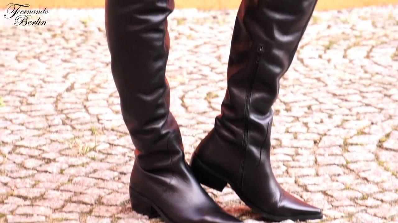 flat crotch high boots model 115