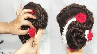 latest Gajra Hairstyle For Wedding || Simple Juda Hairstyle  || Cute hairstyle || Hair Style Girl