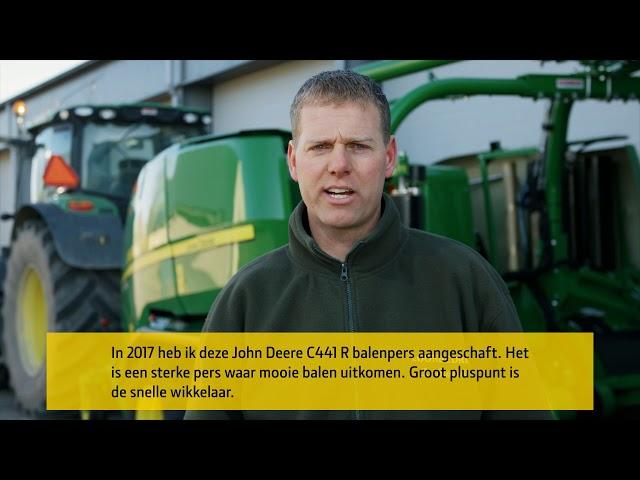 John Deere | Klantervaring C441R Balenpers met wikkelsysteem
