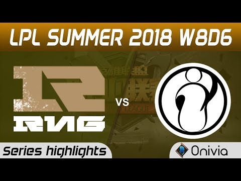 RNG vs IG Series Highlights LPL Summer 2018 W8D6 Royal Never Give Up vs Invictus Gaming by Onivia
