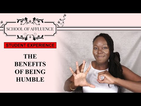 School Of Affluence: Day 50: Conversation About The Value Of Humility