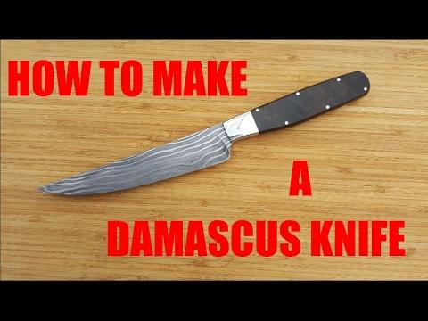 Making a Damascus Kitchen Knife (Full Process)