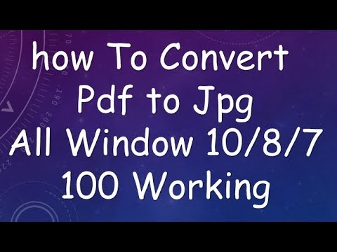 how to convert a pdf to a jpg on windows