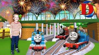 Железная дорога Мультик про Машинки Виды железнодорожного транспорта. Поезд. Сапсан. Паровозик Томас