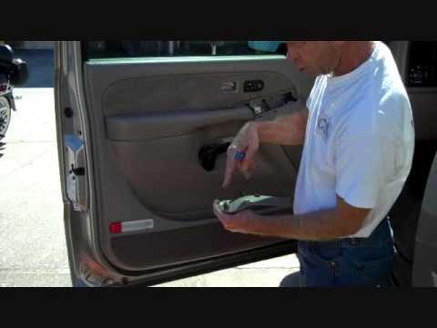 gmc sierra and chevrolet silverado front speaker removal. Black Bedroom Furniture Sets. Home Design Ideas