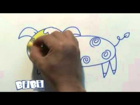 Hướng dẫn tạo hình   Vẽ chú lợn con