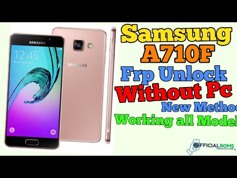 Samsung A710F Frp Unlock Without Pc New Method 2019 In Hindi (Working All Model)