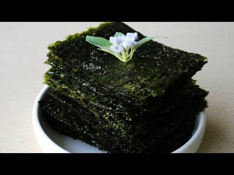 Korean style roasted seaweed (Gim-Gui: 김구이)