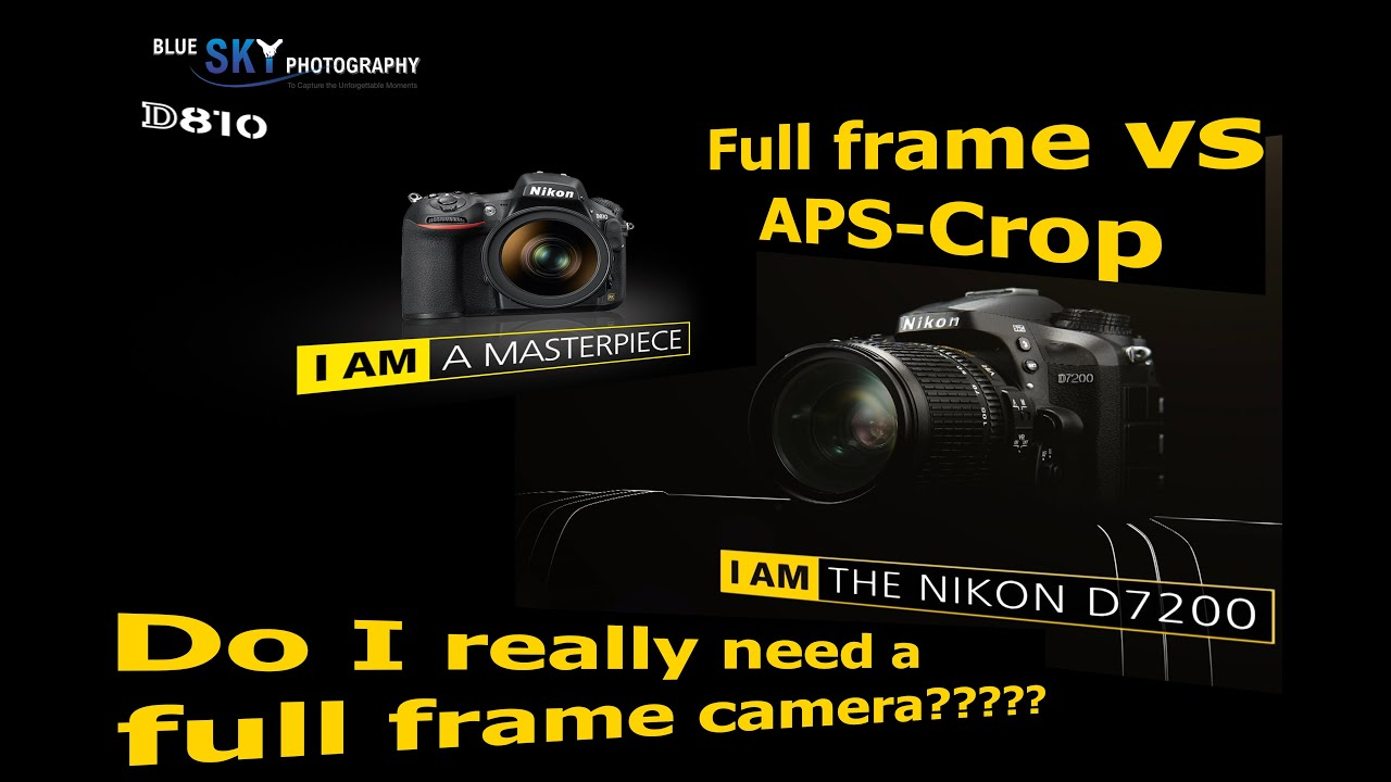 Full frame vs APS C crop . Do I really need it or not? - YouTube