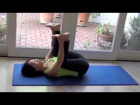 easy yoga  happy baby pose  hip stretch 5 of 5  youtube