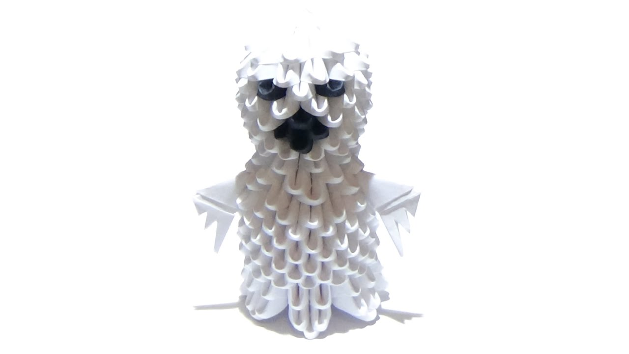 Halloween How To Make A 3D Origami Ghost