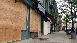 Small Businesses Storefronts Boarded Up