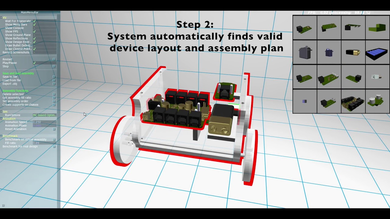 Assembly-aware Design of Printable Electromechanical Devices