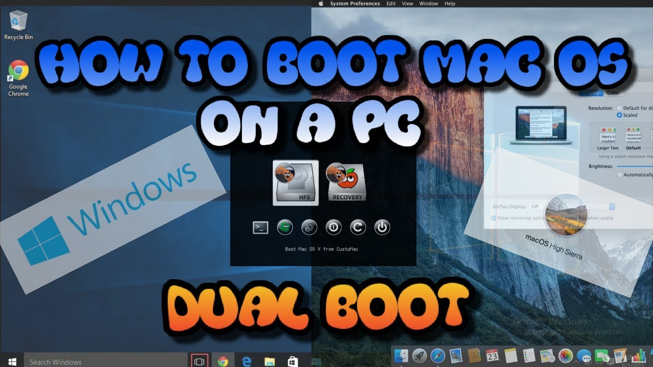 How to Run MAC OSX on a WINDOWS PC (Clover Boot-loader)