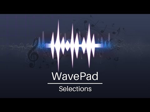 WavePad Audio Editor Tutorial - Selections