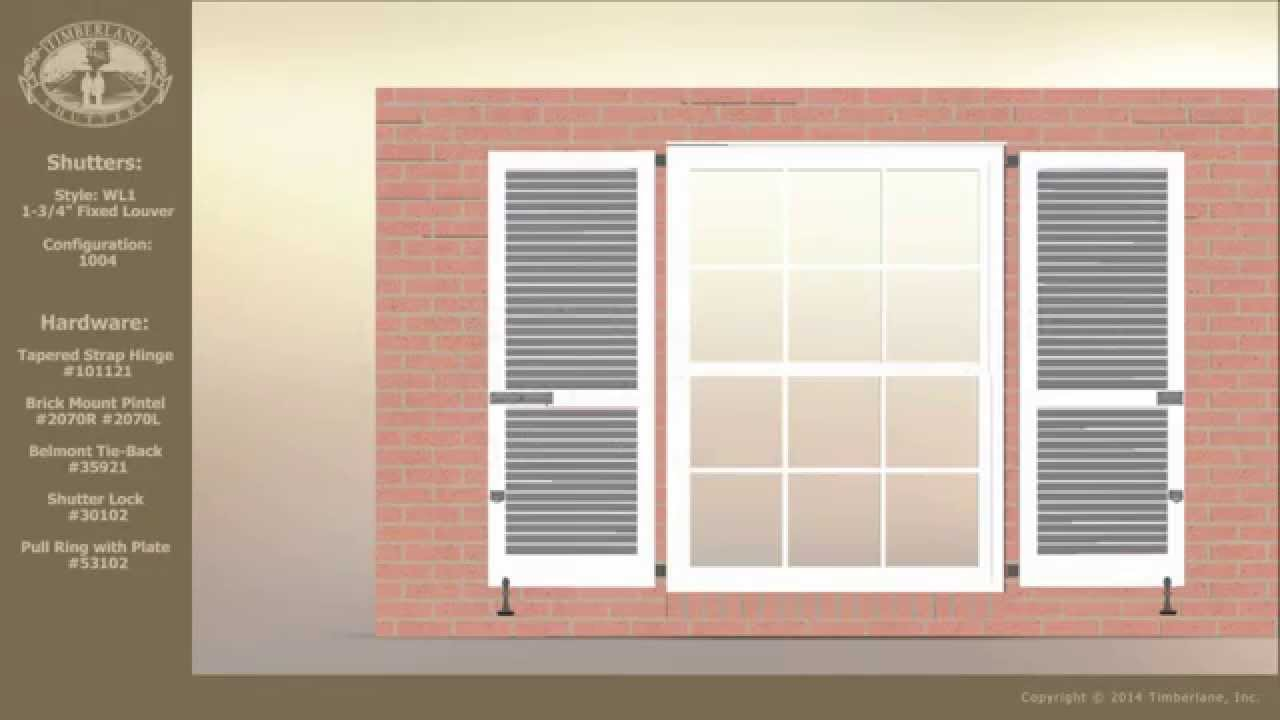 Hardware Used when Installing Exterior Shutters on Brick - YouTube