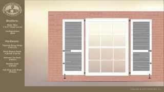 Hardware Used When Installing Exterior Shutters On Brick