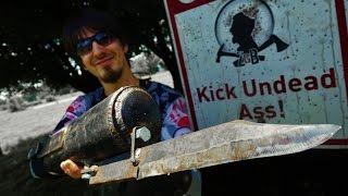 The Walking Dead: Merle Dixon's Knife Hand Bayonet IRL! Zombie Go Boom!